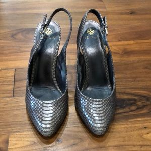Isola snakeskin high heel